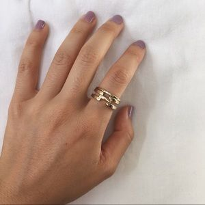 <50% off 2+Jewelry Bundles>  Gold Link Ring Set